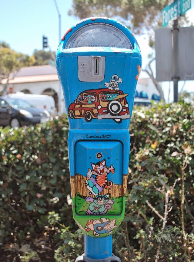 Change4Homeless.com Donation Parking Meters in Laguna Beach, California