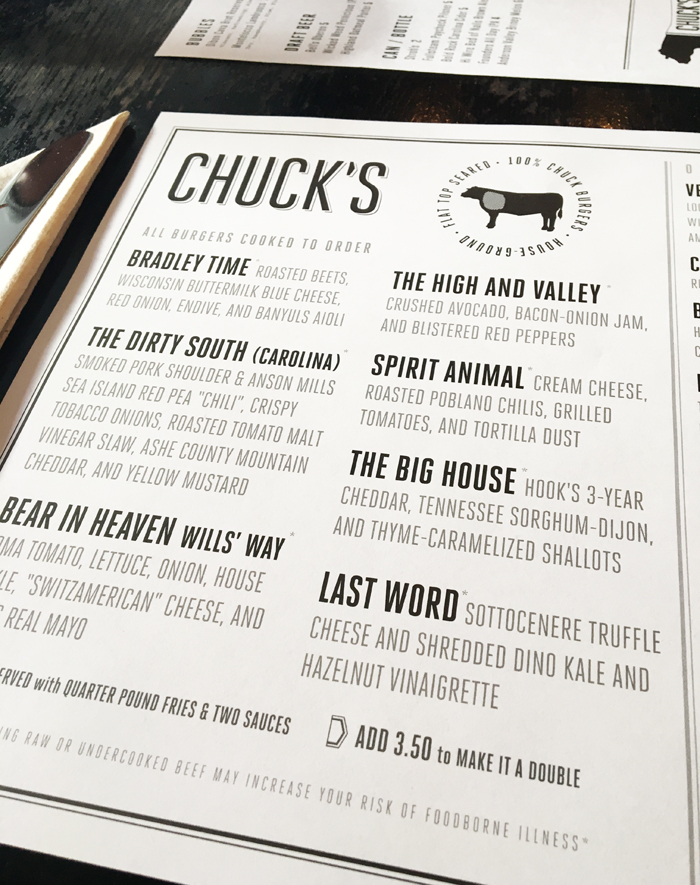 Eating at Chuck's in downtown Raleigh | Em Busy Living