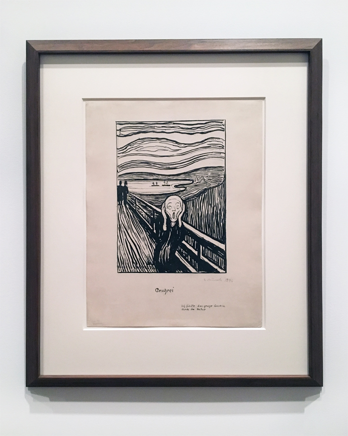 Edvard Munch, The Scream, 1985, Lithograph