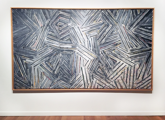 Jasper Johns, Between the Clock and the Bed, 1982-83, Encaustic on Canvas