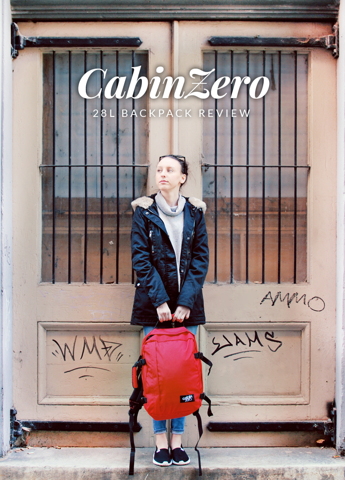 CabinZero 28L Mysore Red Backpack Review